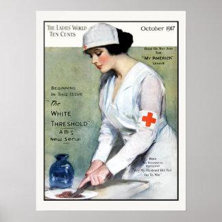 Enfermera de la Cruz Roja de la revista de las Póster