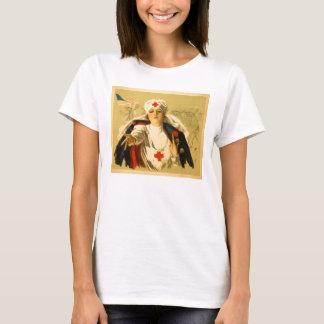 Enfermera de la Cruz Roja del vintage - camisa