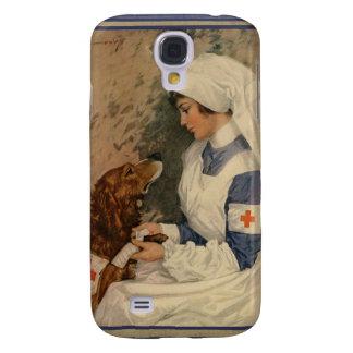 Enfermera de la Cruz Roja del vintage con golden Funda Para Galaxy S4