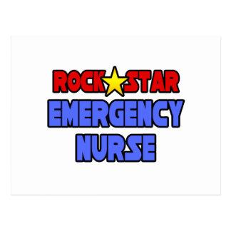 Enfermera de la emergencia de la estrella del rock tarjeta postal