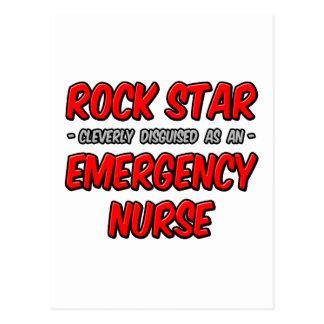 Enfermera de la emergencia de la estrella del rock tarjetas postales