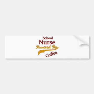 Enfermera de la escuela accionada por el café etiqueta de parachoque
