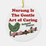 Enfermera de la escuela adornos de navidad