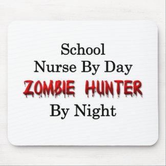 Enfermera de la escuela/cazador del zombi tapetes de raton
