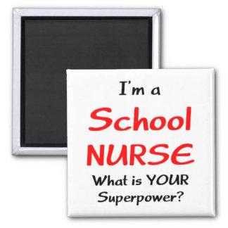 Enfermera de la escuela imán cuadrado