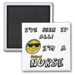 Enfermera de la escuela iman de nevera
