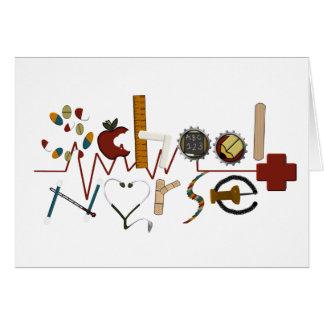 Enfermera de la escuela por MagsGraphics Tarjeta De Felicitación