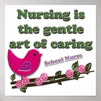 Enfermera de la escuela póster
