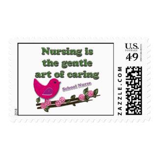 Enfermera de la escuela timbres postales