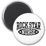 Enfermera de la estrella del rock iman de frigorífico