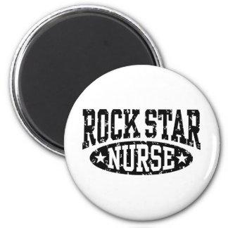 Enfermera de la estrella del rock imán redondo 5 cm
