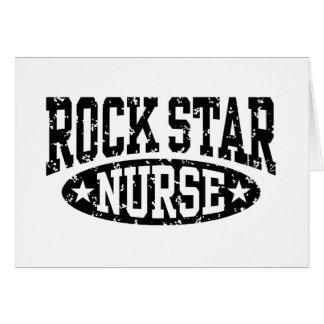 Enfermera de la estrella del rock felicitacion