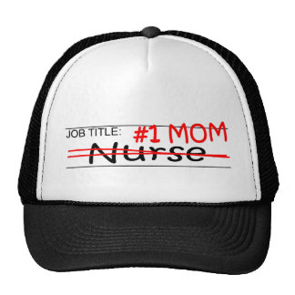 Enfermera de la mamá del trabajo gorras