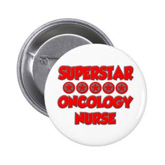 Enfermera de la oncología de la superestrella pin redondo de 2 pulgadas