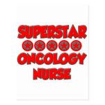 Enfermera de la oncología de la superestrella postal