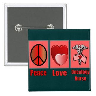 Enfermera de la ONCOLOGÍA del amor de la paz Pins