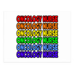 Enfermera de la oncología del arco iris tarjeta postal