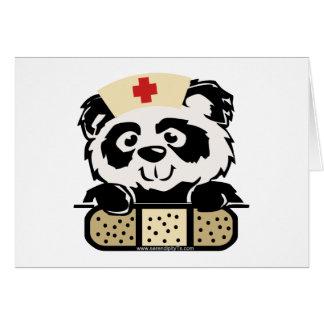 Enfermera de la panda tarjeta de felicitación
