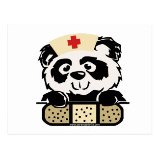 Enfermera de la panda postales