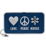 Enfermera de la paz del amor laptop altavoces