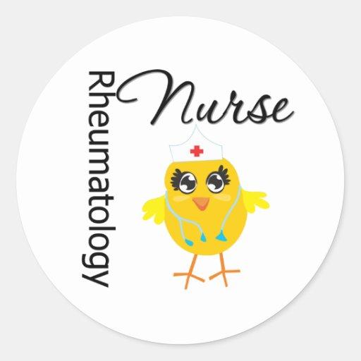 Enfermera de la reumatología del polluelo v1 de la pegatina redonda