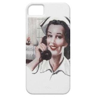 Enfermera de la sala de hospital del vintage en el iPhone 5 coberturas