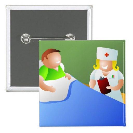 Enfermera de la sala pins