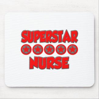 Enfermera de la superestrella alfombrilla de ratones