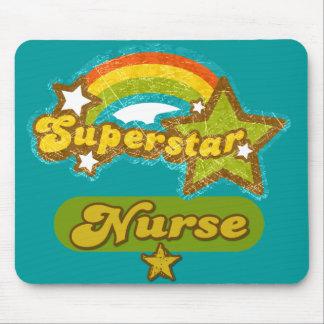 Enfermera de la superestrella alfombrilla de raton