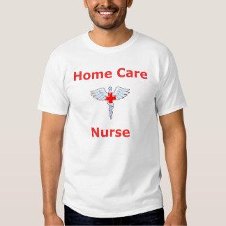 Enfermera de los cuidados en casa - caduceo playera