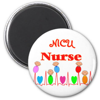 Enfermera de NICU--Gráficos adorables del bebé Imán Redondo 5 Cm