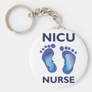 Enfermera de NICU Llavero Redondo Tipo Pin