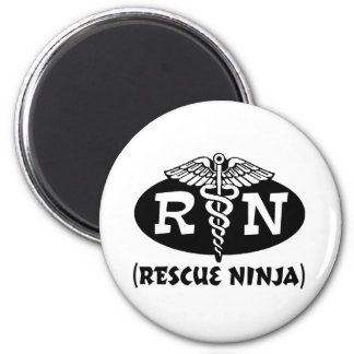 Enfermera de Ninja Imán Redondo 5 Cm