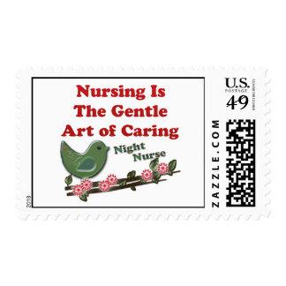 Enfermera de noche estampilla