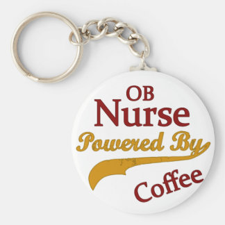 Enfermera de OB accionada por el café Llavero Redondo Tipo Pin