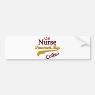 Enfermera de OB accionada por el café Pegatina Para Auto