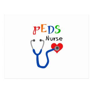 Enfermera de Peds Tarjeta Postal