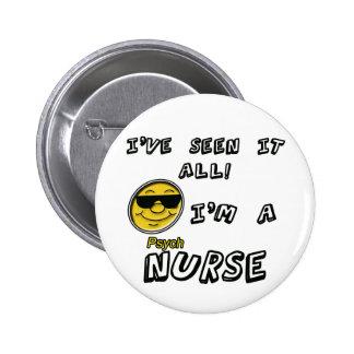 Enfermera de Psych Pin Redondo De 2 Pulgadas