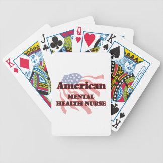 Enfermera de salud mental americana barajas de cartas