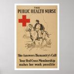Enfermera de salud pública - ella contesta a la ll impresiones