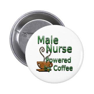 Enfermera de sexo masculino accionada por el café pin