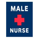 Enfermera de sexo masculino postal