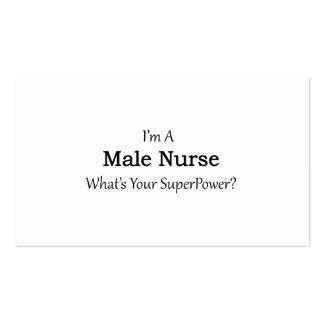 Enfermera de sexo masculino tarjetas de visita