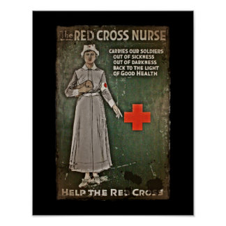 Enfermera de WWI que aumenta fondos Póster