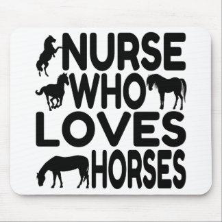 Enfermera del amante del caballo alfombrilla de raton