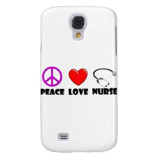 Enfermera del amor de la paz funda para galaxy s4