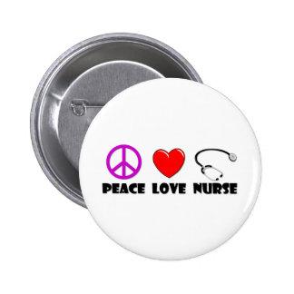 Enfermera del amor de la paz pin