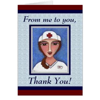 Enfermera del arte popular - el RN/el oficio de en Tarjetón