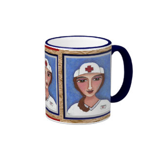Enfermera del arte popular - taza del RN/del ofici