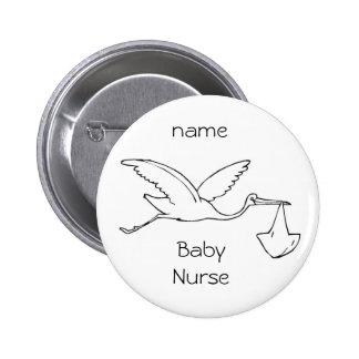 enfermera del bebé del botón bebé enfermera del pin